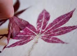 hammered flower and leaf prints