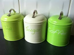 Retro Kitchen Canisters Modern Lime Green Kitchen Canisters Quicuacom