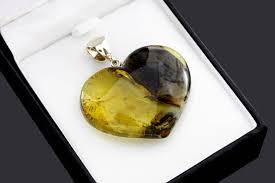 amber heart pendant heart pendant pendant for love girlfriend romantic jewelry girlfriend gift pendant romantic jewelry for her