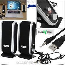 speakers pc. portable usb multimedia stereo speakers system for pc laptop computer desktop uk pc