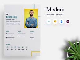 Modern Resume Temllates 3 Page Modern Cv Resume Template