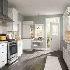 kitchen floor tiles with white cabinets. COLOR ---Dark Floor, White Cabinets, Benjamin Moore Sea Haze On Walls. I Think This Is The Color. Traditional Kitchen By MasterBrand Inc. Floor Tiles With Cabinets