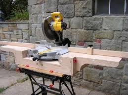 portable chop saw table. shop built chop saw stand portable table 0