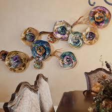 fiori purple aqua irisgold hand blown glass wall installation