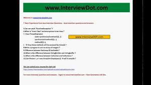 7 Years Experienced Core Java Interview Questions Job Interview