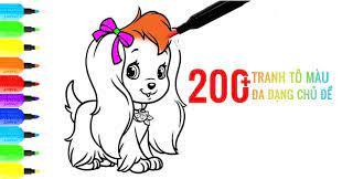 200+ tranh tô màu đẹp cho bé gái, đa dạng chủ đề khiến các bé thích mê -  BlogAnChoi