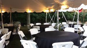 we offer 6ft rectangle tables and 60 inch round tables rectangle tables accommodate 6 s and the 60 inch round accommodate 8 s