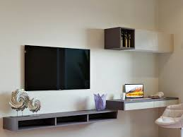 entertainment unit with a modern study