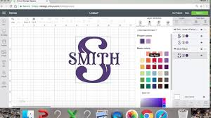 Cricut Name Designs How To Slice A Letter To Make A Monogram In Cricut Design Space