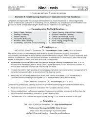 Housekeeper Resume Format Housekeeping Template 4 Free Word ...