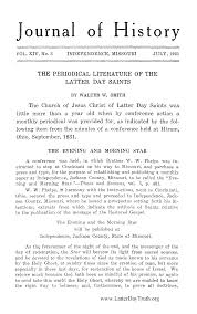 titlep the periodical literature of the latter day saints from journal of history vol 14
