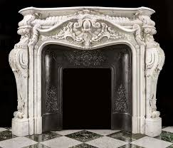 a french rococo style antique marbke fireplace mantel fireplace surroundsfireplace mantelsmarble