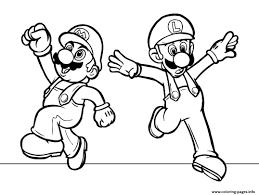 Luigi And Mario Bros S3a4c Coloring Pages Printable