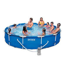 intex recreation intex metal frame pool with pump 12 x 30 by intex recreation