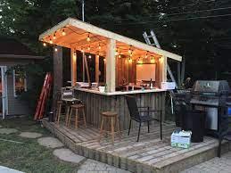 outdoor patio bar tiki bars backyard