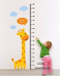 Wall Decal Giraffe Growth Chart Wall Decal Children Wall