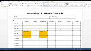 how to use the weekly timetable template how to use the weekly timetable template