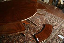 Round Dining Table For 6 With Leaf Perimeter Table Round Dining Table W Perimeter Leaves Round