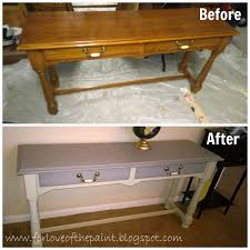 for love of the paint before and after thomasville sofa table in annie sloan country grey and french linen