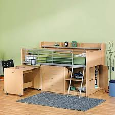 charleston storage loft bed with desk natural boys room or dorm