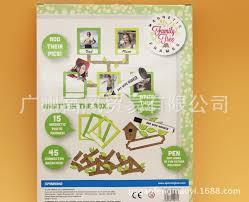 novelty diy fridge magnetic frames home decor lovely family tree photo frame magmetic sticker for kids