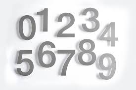 large modern stainless steel house numbers