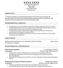 Objective To Obtain A Position As A Sales Representative With