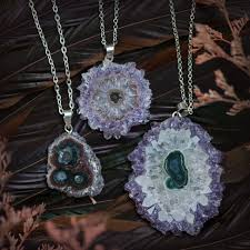amethyst stalactite pendants