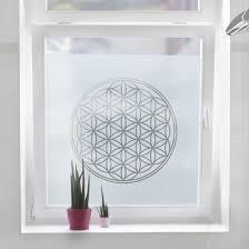Fensterfolie Sichtschutzfolie Blume Des Lebens Milchglasfolie