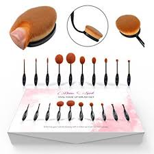 professional oval makeup brushes free gifts super soft as velvet 10 piece toothbrush