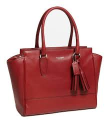 COACH Legacy Leather Medium Candace Carryall Shoulder Satchel Bag - Black  Cherry 19890