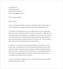 Employee Termination Letter Due To Poor Performance Notice Of ...