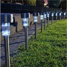 outdoor garden lighting. Solar Lawn Light For Garden Drcoration Stainless Steel Power Outdoor Lamp Luminaria Landscape Lighting