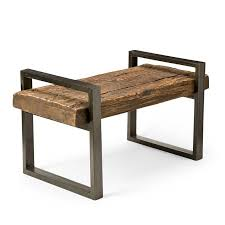 rustic wood bench. Unique Bench Rustic Wood And Iron Bench To