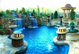 luxury backyard pool designs. Luxury Backyard Landscaping Backyards Swimming Pools Pool 4 Home Designs G