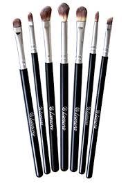 2 lamora makeup eye brush set