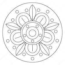 Disegni Da Colorare Mandala Grande Fiore Vettoriali Stock