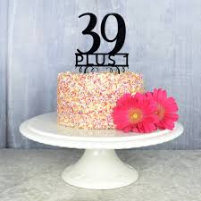 40th Birthday Cake Topper By Pink And Turquoise Notonthehighstreetcom
