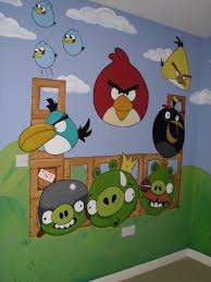 Lovely Angry Birds, Kidu0027s Room Wall Mural Www.custommurals.co.uk