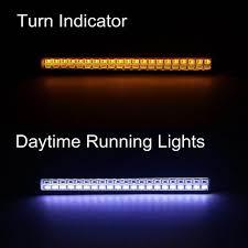 Wit Amber Drl Auto Led Dagrijverlichting Richtingaanwijzer Lampje