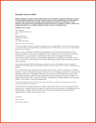 Fresh Intern Cover Letter Resume Pdf