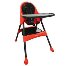 plastic baby high chair. lucky baby® 702833 modus plus™ baby high chair - red plastic