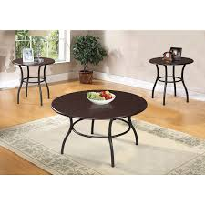 End Table And Coffee Table Set Urika 3 Piece Coffee And End Table Set Dark Cherry Espresso