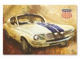 american muscle car metal wall decor
