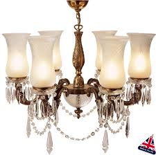maharaja old gold chandelier 6 light uk handmade