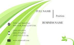 Green Card Template Green Business Card Templates