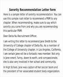 sorority letter of recommendation example sample sorority recommendation letter lovely sorority re