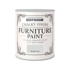 furniture paintRustOleum Winter Grey  Chalky Furniture Paint  750ml at