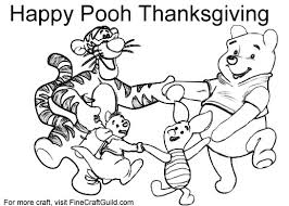 Small Picture Free Thanksgiving Coloring Pages To Print Winnie the Pooh
