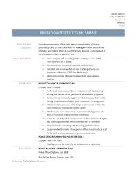Probation Officer Resume Resume Examples Templates Probation Officer Cover Letter 5